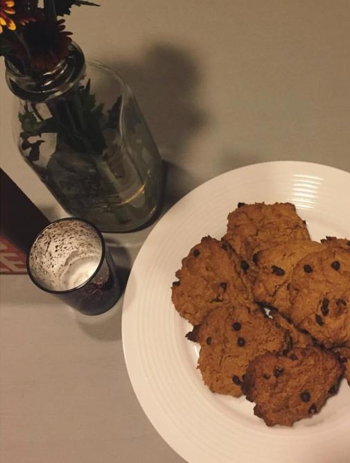 Jessie's Chocolate Chip Cookies (I added pumpkin because... basic white girl)
